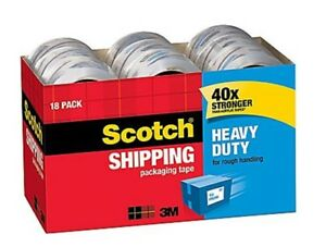 Scotch Heavy duty Packing Tape 1 88 X 54 6 Yds Clear 18 pack Total 982 Yards