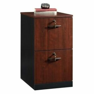 Bowery Hill 2 Drawer Transitional File Cabinet In Classic Cherry