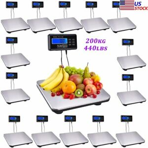 Lot 660lbs X 0 1lb Digital Floor Bench Scale Steel Platform For Shipping Postal