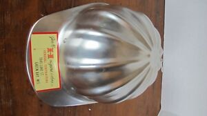 Vintage Geo M Hougard Sons Aluminum Hard Hat Green Bay Wisconsin