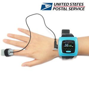 Wrist Finger Pulse Oximeter Sleep Study Spo2 Blood Oxygen Heart Rate Monitor Usb