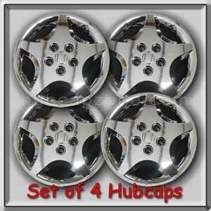 4 14 Chrome Hubcaps 2003 2004 Chevy Cavalier Chevrolet Cavalier Wheel Covers