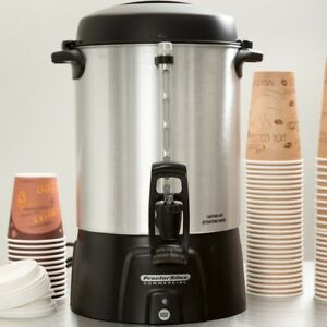 Electric 60 Cup Coffee Tea Urn Dispenser Container Hot Office Holiday Christmas