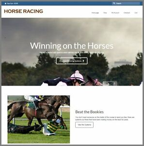Horse Betting Product Website 9 15 A Sale free Domain free Hosting free Traffic