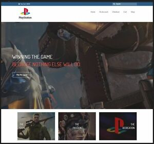Sony Playstation Website 112 34 A Sale free Domain free Hosting free Traffic