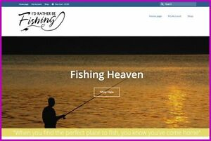 Fishing angling Website 775 20 A Sale free Domain free Hosting free Traffic