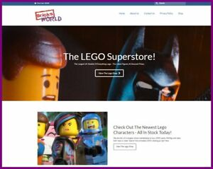Fully Stocked Lego Toys And Kits Website Business free Domain hosting traffic