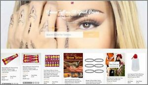 Henna Tattoos Website Earn 4 81 A Sale free Domain free Hosting free Traffic