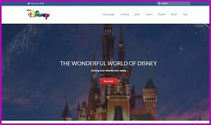 Fully Stocked Disney Goods Website Business free Domain hosting traffic