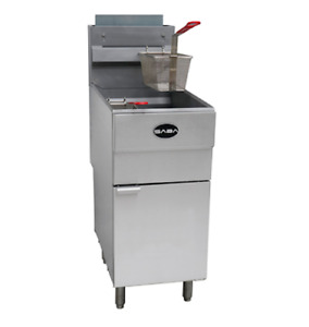 Commercial Kitchen Stainless Steel Natural Gas Deep Fryer 45 Lb 120 000 Btu