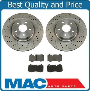 Front Pads Brake Rotors 350mm For Mercedes Benz 07 13 S550 With Sport Package