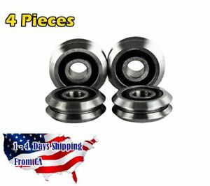 Rm2 2rs 3 8 Inch V Groove Roller Bearing Rubber Sealed Line Track 4pcs