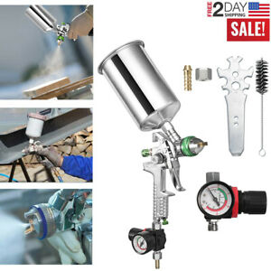 2 5mm Nozzle Air Paint Spray Gun Hvlp Sprayer Gravity Feed Auto Painting 1000ml