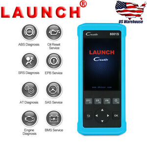 Launch Cr8001s Obd2 Car Diagnostic Code Reader Scanner Epb Abs Sas Bms Oil Reset