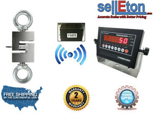 Wireless Industrial Op 926 Hanging Scale Hoist With Led Display 20 000 X 2 Lb