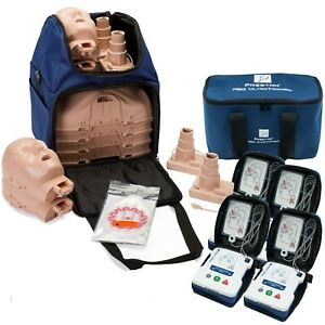 Cpr Training Kit With Prestan Ultralite Manikins Aed Ultratrainers Trainer Acc