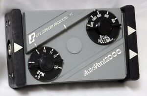 Auto Vent 2000 Ventilator 2 0 Respiratory Life Support With Coupler