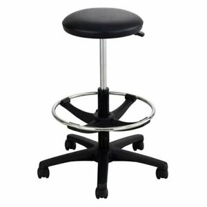 Safco Adjustable Backless Drafting Chair In Black