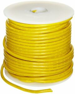 Ul1015 Commercial Copper Wire Bright Yellow 12 Awg 0 0808 Diameter 100 L