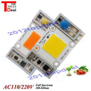 High Power 50w Led Chip Built in Driver 400 840nm Full Spectrum Led 110v 220vac