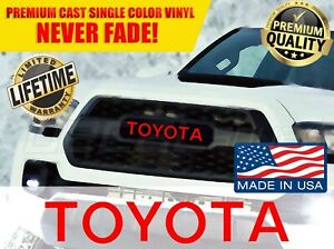Toyota Tacoma Trd Pro Grille Logo Decal Grill Letters Sticker 2016 2017 2018 New