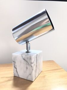Mid Century Modern Koch And Lowy Chrome And Marble Table Lamp