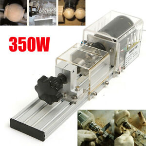 350w Mini Wood Lathe Beads Machine Woodworking Grinder Cutting Drill Rotary Tool