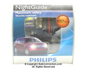 New Philips Bc9706 9007 Night Guide Halogen 2 Pack 9007ngs2 Bulb