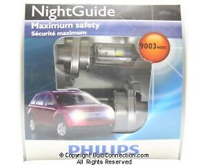 New Philips Bc9731 9003 Night Guide 2 pack 9003ngs2 Bulb