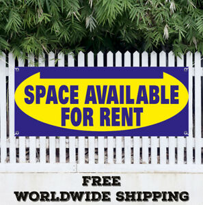 Banner Vinyl Space Available For Rent Advertising Sign Flag Realtor House Rental