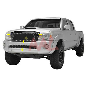 Aal 2005 2006 2007 2008 2009 2010 Toyota Tacoma Steel Black Mesh Grille Insert