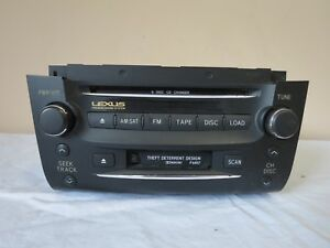 06 07 Lexus Gs300 Gs430 Gs450 Radio Tape 6 Disc Cd Changer Player Receiver Oem
