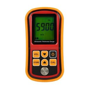 Gm100 Digital Ultrasonic Thickness Gauge Tester Meter Sound Velocity 1 2 225mm