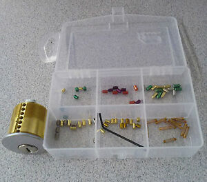 Schlage 7 Pin pin Your Own Practice Lock Kit Includes Spool And Serrated Pins