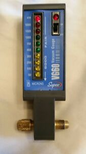 Supco Vg60 Electronic Vacuum Gauge 50 To 5 000 Micron Led Display used