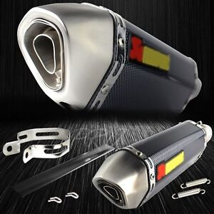 1 5 2 Inlet 1 1 4 Rolled Tip Carbon Look Performance Muffler Exhaust System