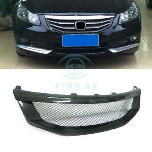 For Honda Accord 8th 2011 2012 Carbon Fiber Front Grille Modified Replace