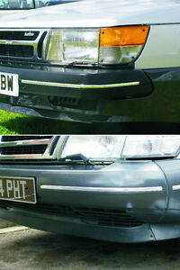 Saab 900 Classic Chrome Bumper Trim Aero Convertible Spg T16s Injection Turbo