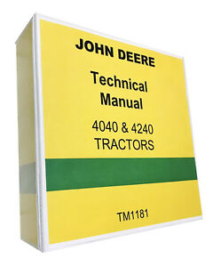 John Deere 4240 Tractor Technical Service Shop Manual