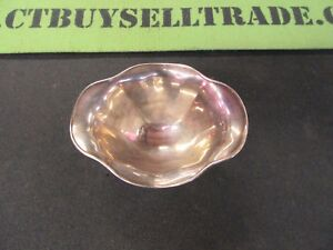 Sterling Silver Footed Candy Nut Dish Bowl Marked 127