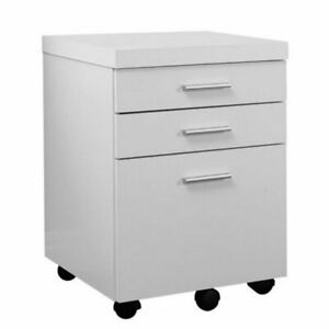 Atlin Designs 3 Drawer File Cabinet In White