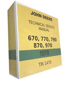 790 John Deere Technical Service Shop Repair Manual Huge
