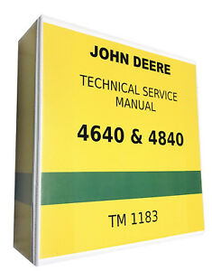 4840 John Deere Technical Service Shop Repair Manual 1151 Pages