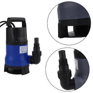 2pcs1hp 3432gph Submersible Dirty Clean Water Pump Flood Pond Swimming Pool Ee