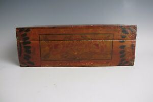 A Chinese Antique Wood Treasure Chest Box W Flower Pattern 12 5 Old Wood