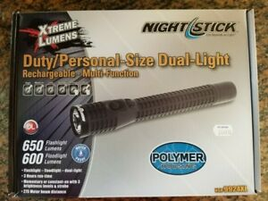 Bayco Nightstick Dual Light Flashlight Police Flashlight New