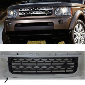 For Land Rover Discovery 4 2010 2013 Chrome Black Front Grille Insect Net