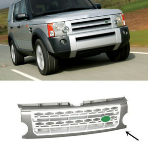 For Land Rover Discovery Lr3 2005 2009 Gray Silver Front Grille Replace Trim