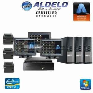 Aldelo Restaurant Bar Pizza 3 Pos Systems stations Pro Version New I3 Processor