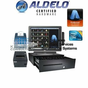 Aldelo Pro Bar Grill Restaurant Package Hp All in one Pos System 3gb Ram Ssd Hdd